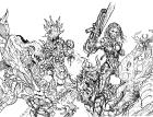 Bloodlust 03. szám ceruzás wraparound borító
