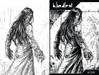 Bloodlust antológia: Cryweni történetek - Delírium borító (ceruza/tollrajz)