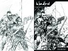 Bloodlust antológia: Cryweni történetek - Zsoldosvégzet borító (ceruza/tollrajz)